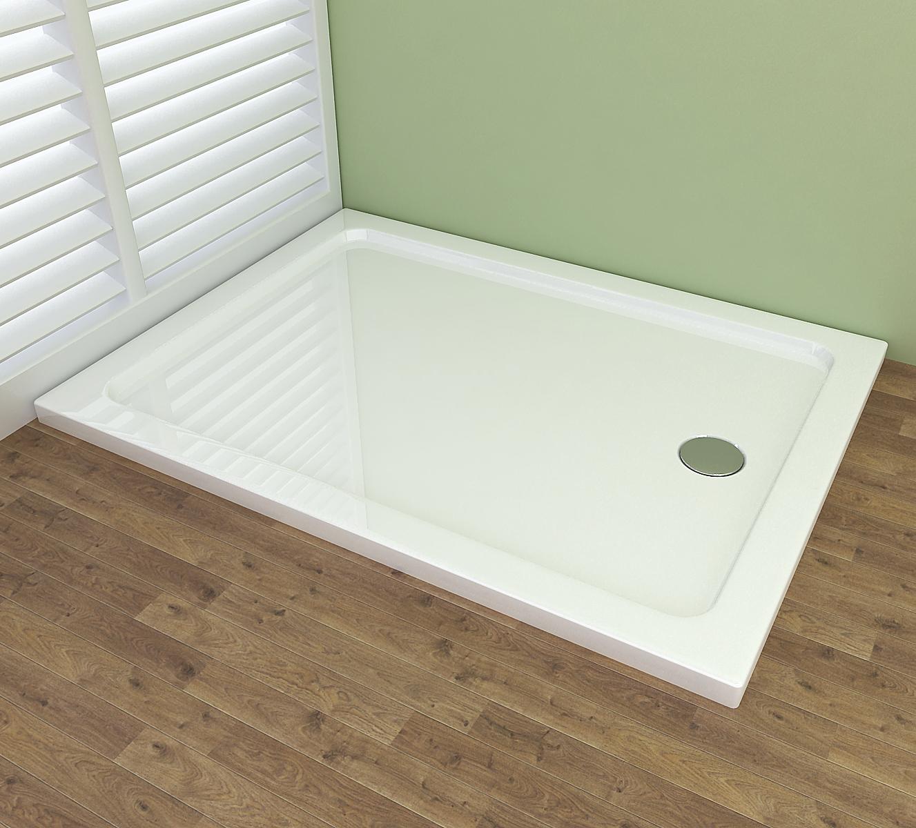 120×90 cm duschwanne acryl duschtasse dusche acrylwanne 40mm flach