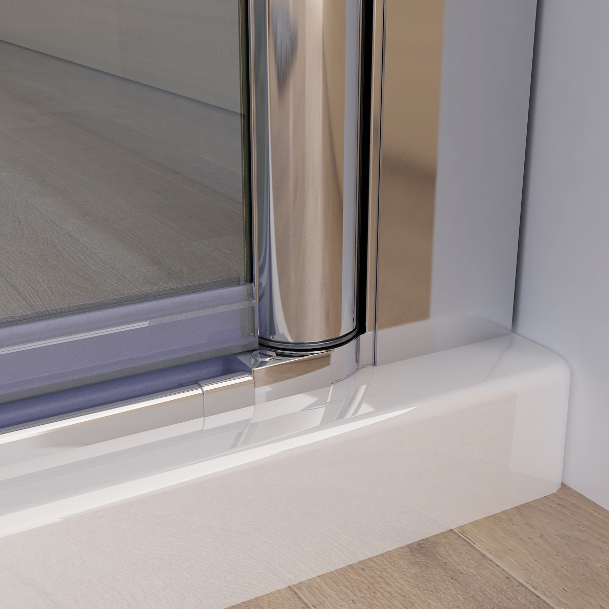 Duschkabine Eckeinstieg Dusche Falttür Duschwand mit Seitenwand NANO ...
