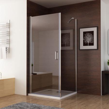 Duschkabine Dusche 90cm Drehtür Schwingtür 70cm Duschwand Seitenwand ...