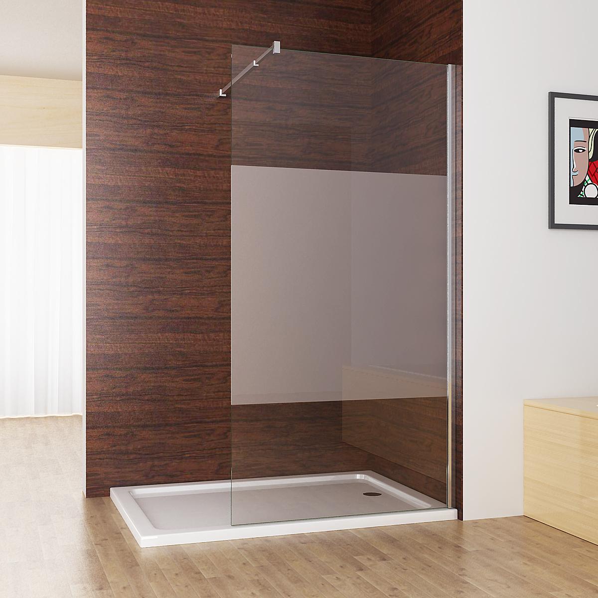 Glas Duschabtrennung.Walk In Dusche Duschabtrennung Duschwand 10mm Nano Teilsatin Glas 80 120 X 200cm Cc
